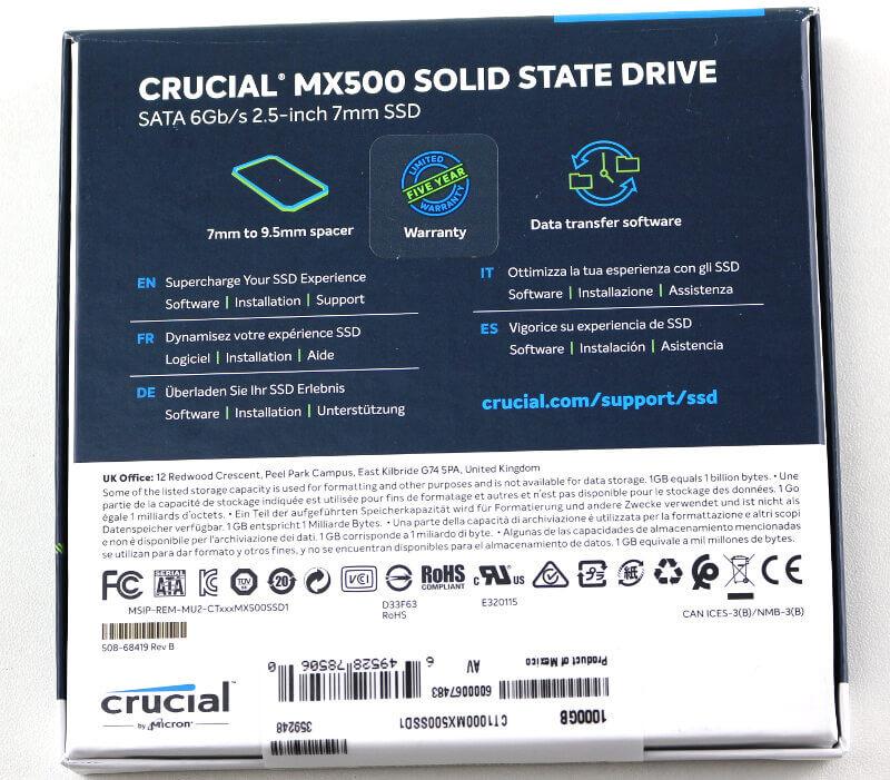 Crucial MX500 PhotoF box rear