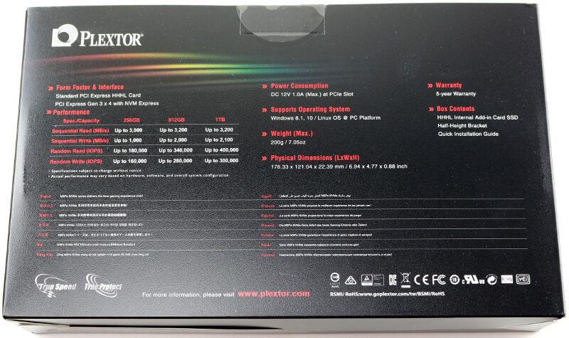 Plextor M9Pe M9PeY 512GB Photo box 2 rear
