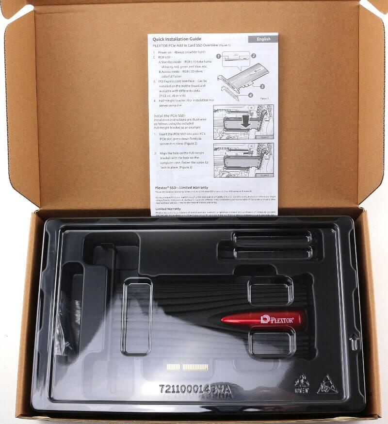 Plextor M9Pe M9PeY 512GB Photo box 3 insides