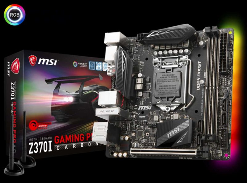 MSI Z370I Gaming Pro Carbon Mini-ITX Motherboard Review