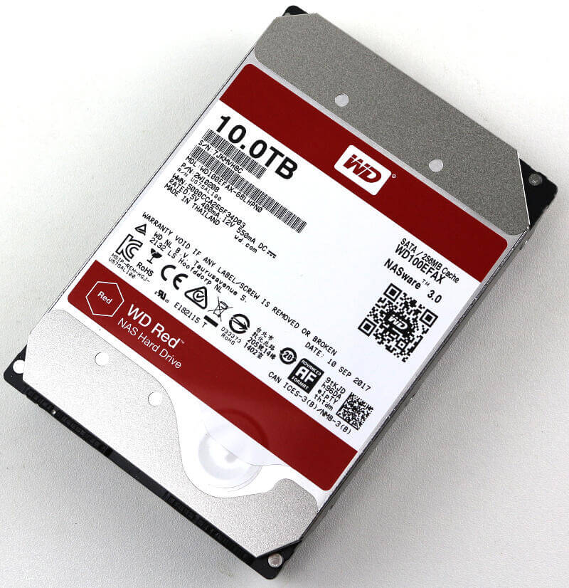 WD RED 10TB Photo top angle 1
