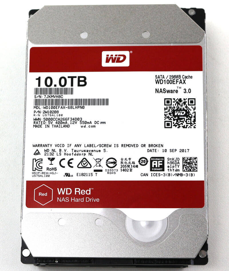 WD RED 10TB Photo top