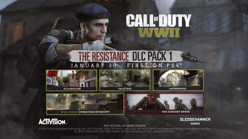 "Call of Duty WW2 ""The Resistance"" DLC Arriving February 2018"