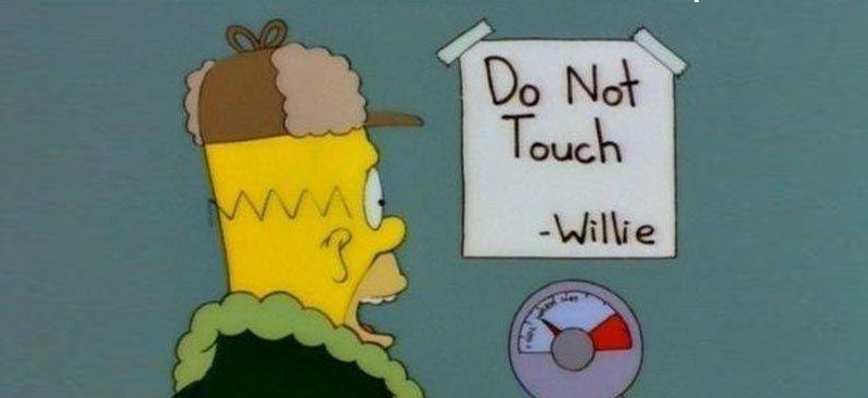 do not touch willie