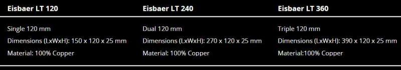 Eisbaer LT Specifications