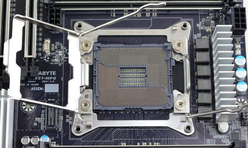 Gigabyte MW51-HP0 Photo closeup socket