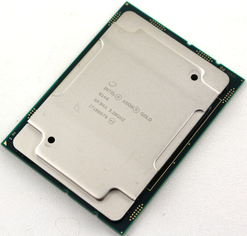 Intel Xeon Gold 6146 LGA3647 Photo view top angle right
