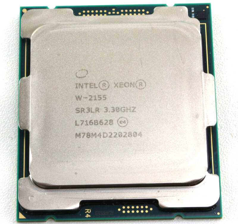 Intel Xeon W-2155 Photo view top