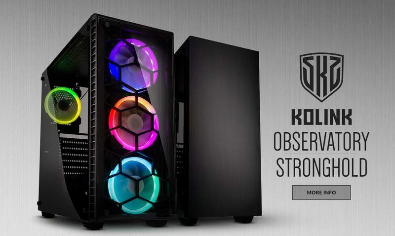 Kolink Observatory and Stronghold E-ATX Chassis Now Available