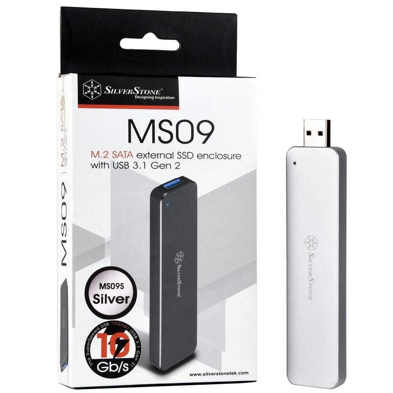 Silverstone MS09 M.2 Enclosure Now Available in Black or Silver