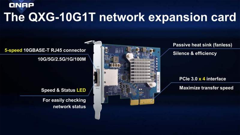QNAP Introduces the QXG-10G1T 10GBASE-T Network Card