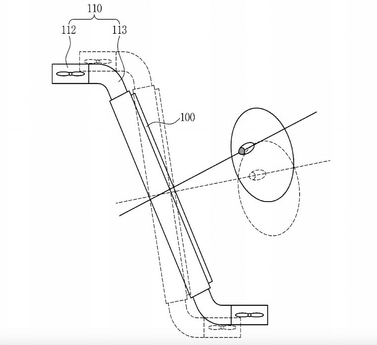 Samsung Patents Personal Flying Display Device
