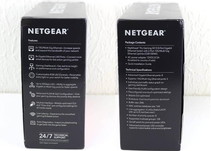 NETGEAR Nighthawk SX10 Photo box sides both