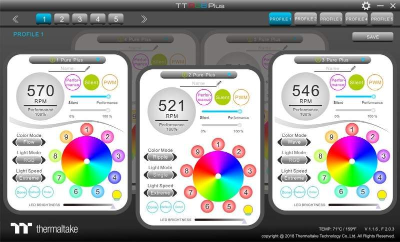 Thermaltake Pure Plus 12 LED RGB Radiator Fan TT Premium Edition 4 preview