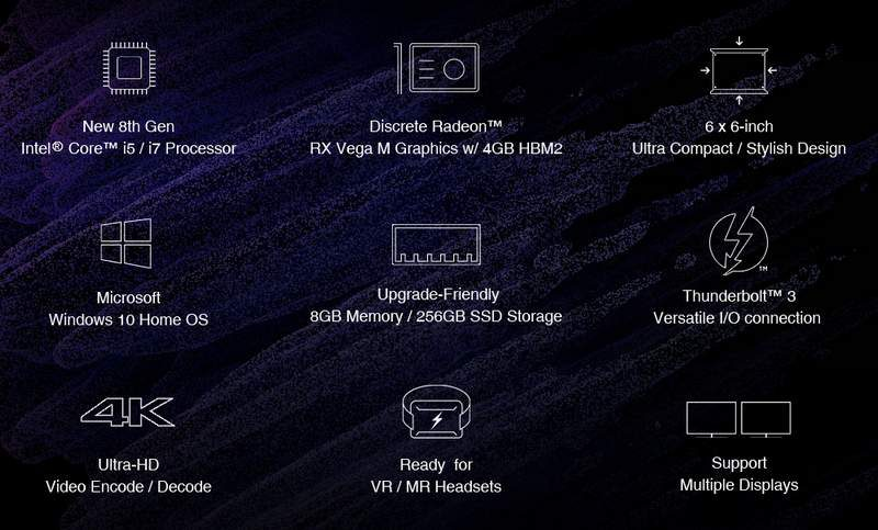 Chuwi HiGame Mini-PC Packs Intel i7-8709G with RX Vega M