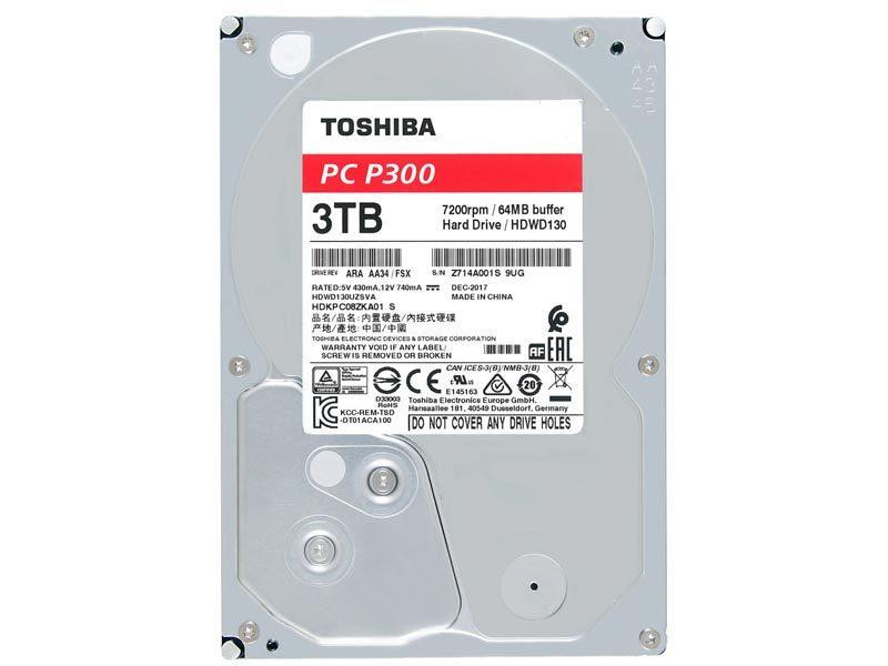 Toshiba Announces P300 and X300 Desktop Hard Drive Series