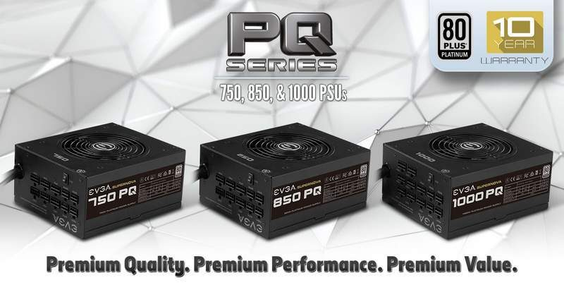 EVGA Introduces the PQ Power Supply Series