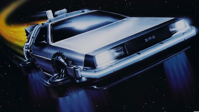 delorean back to the future flying car flying cars