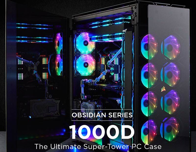 Corsair Launches Obsidian 1000D Super-Tower Case