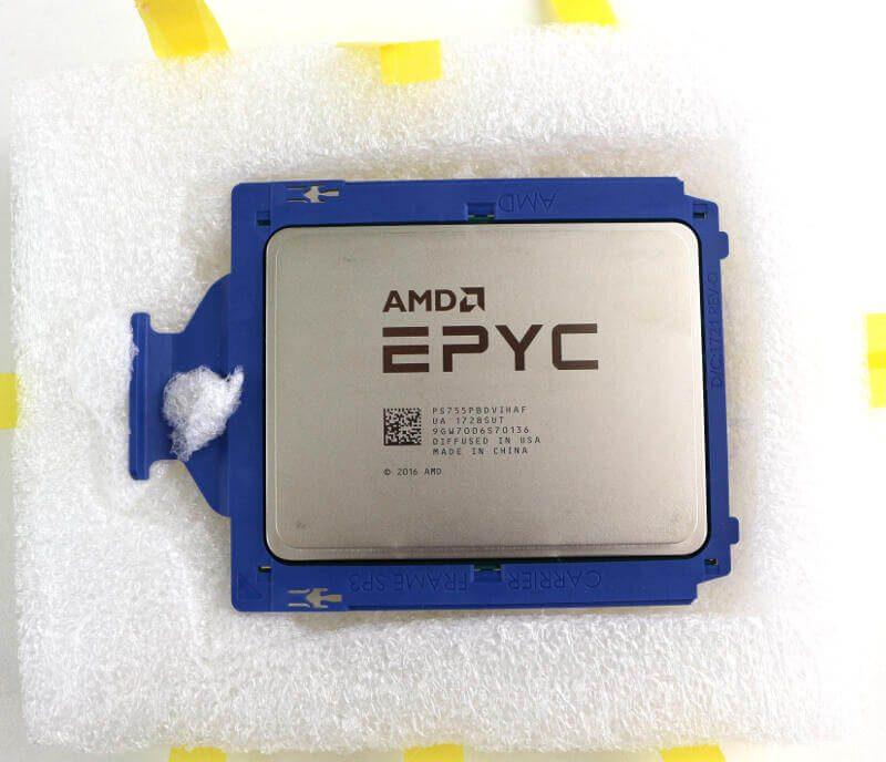 AMD EPYC 7551P Photo box open