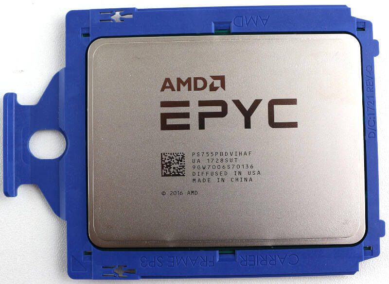 AMD EPYC 7551P Photo view top