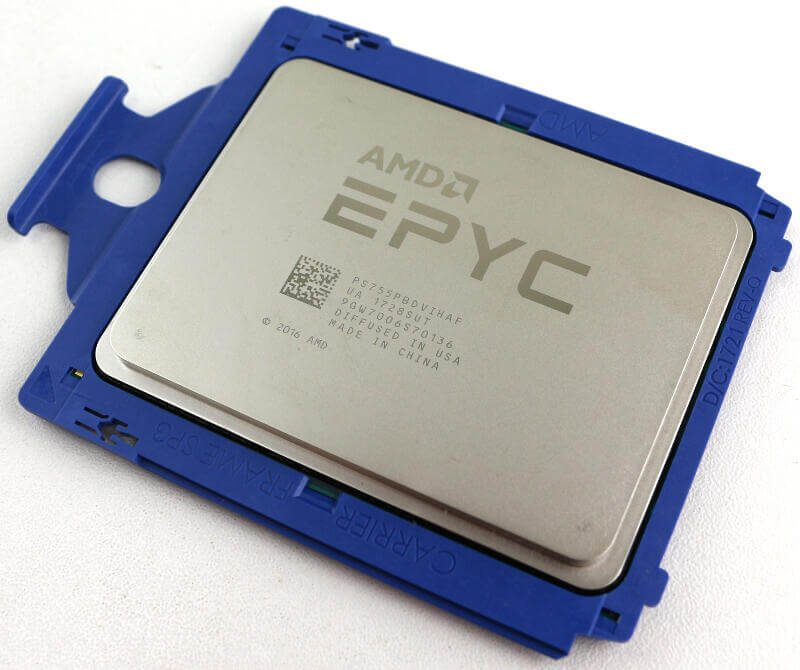 AMD EPYC 7551P Photo view top angle