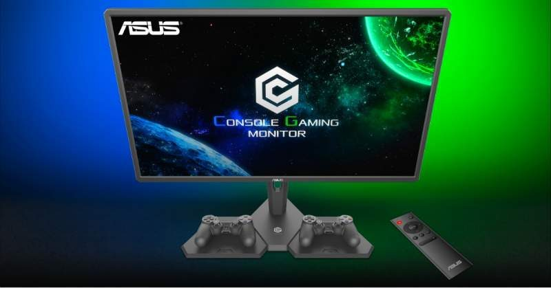ASUS CG32 console gaming monitor with Halo Sync Lighting and Remote Control