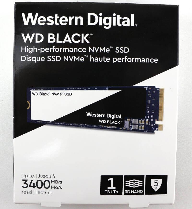 WD Black PCIe M2 1TB Photo box top