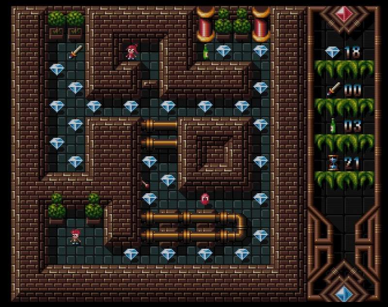 Top-Down Maze Game 'Worthy' Released for Amiga