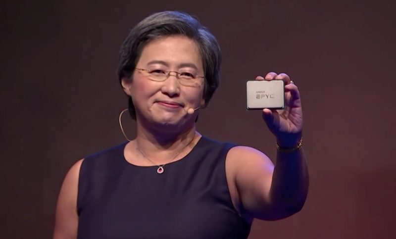 Lisa Su shows off 7nm 2nd-Generation EPYC CPU