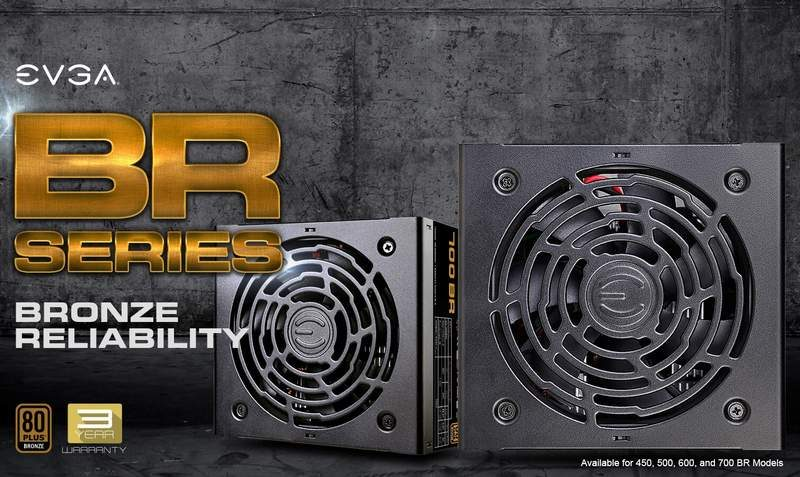 EVGA Introduces New BR Series 80 PLUS Bronze PSUs