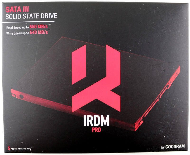GOODRAM IRDM PRO 480GB Photo box top