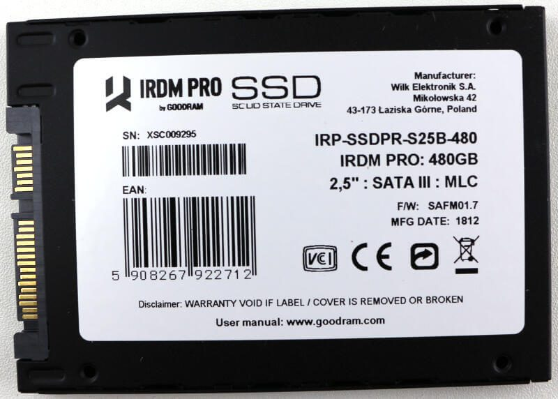GOODRAM IRDM PRO 480GB Photo view bottom