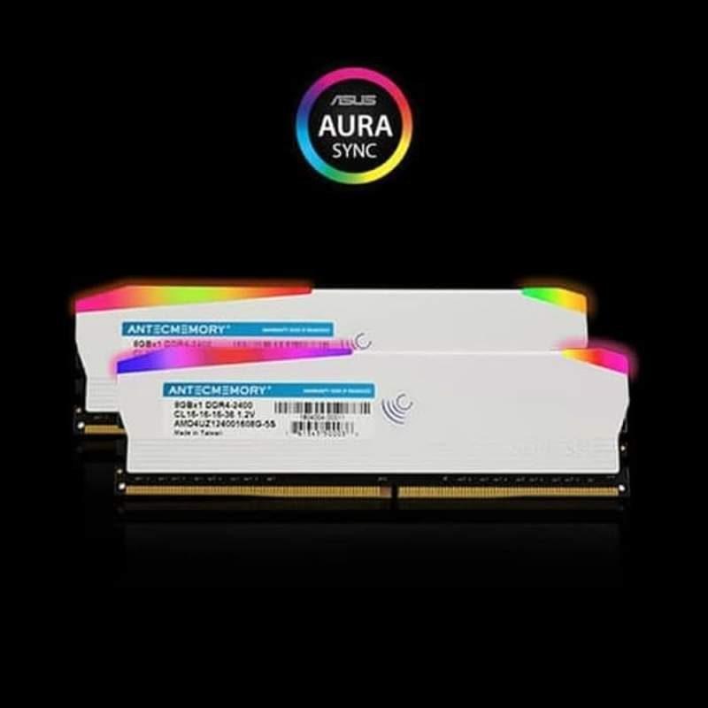 Limited Antec Memory DDR4 PC19200 2400MHz 16GB 2x8GB RGB Led