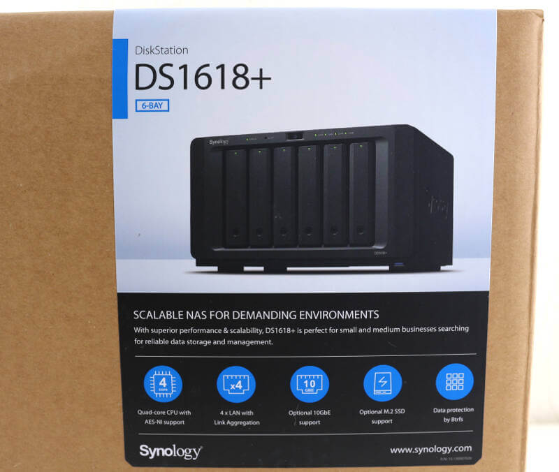 Synology DS1618p Photo box label