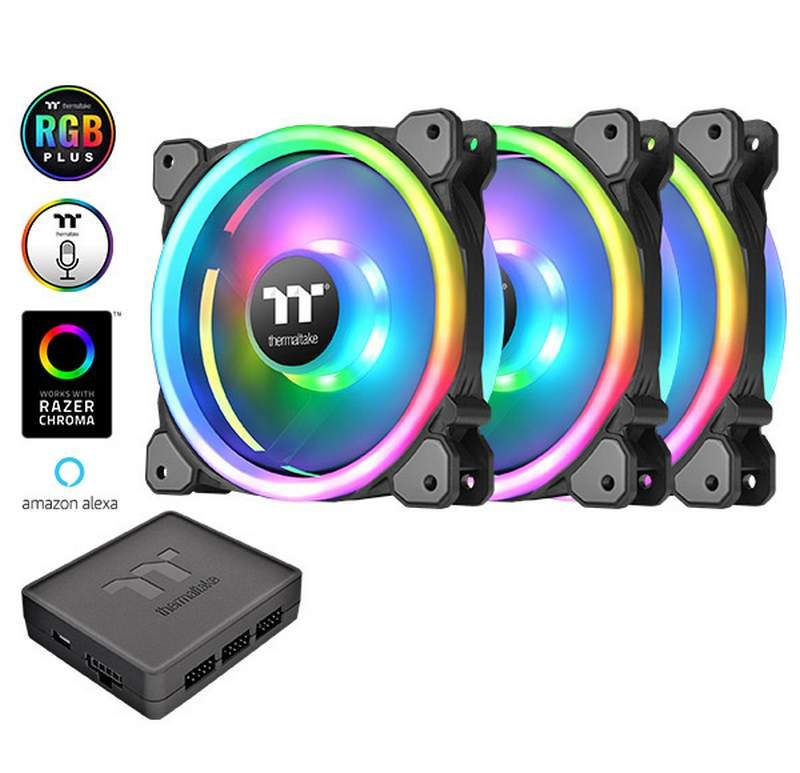 Thermaltake's Riing 12 Trio RGB LED Fan Has Alexa Support