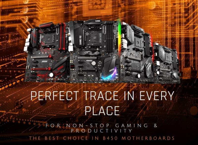 MSI Introduces New Line of B450 Chipset Motherboards