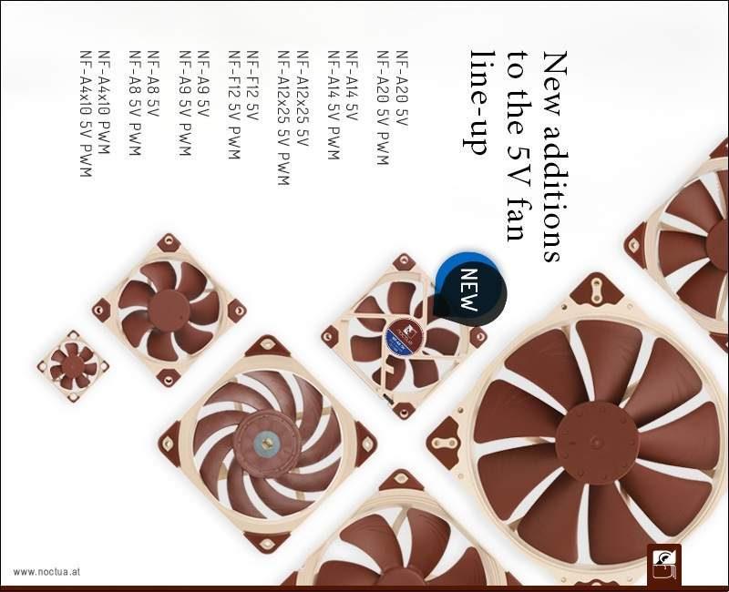 Noctua Expands 5V Fan Line-Up With Seven New Models