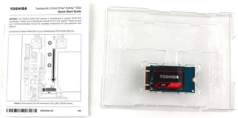 Toshiba OCZ RC100 240GB Photo box content
