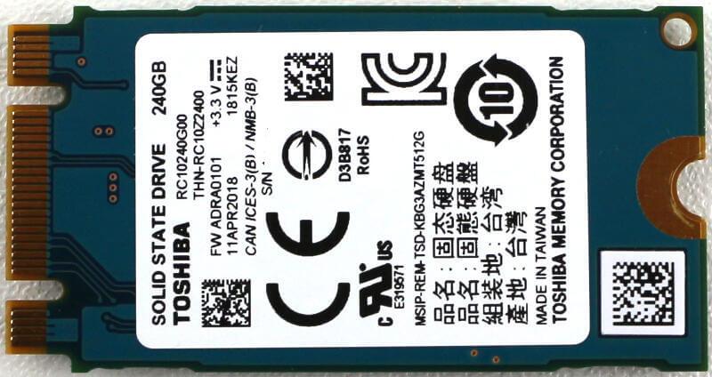 Toshiba OCZ RC100 240GB Photo view rear