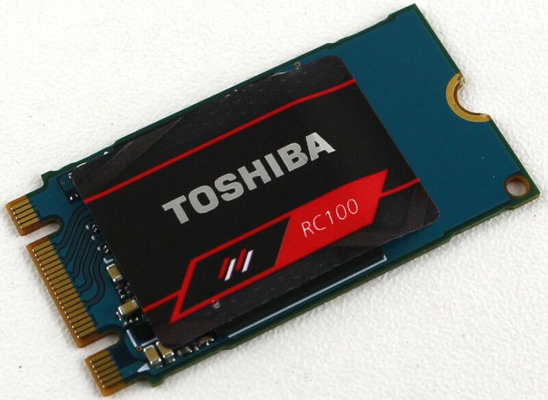 Toshiba OCZ RC100 240GB Photo view top angle