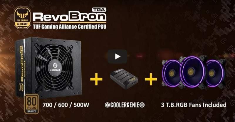 ENERMAX Launches RevoBron TUF Gaming Alliance PSU