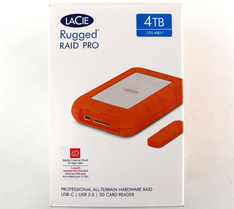 LaCie Rugged RAID Pro 4TB Photo box front