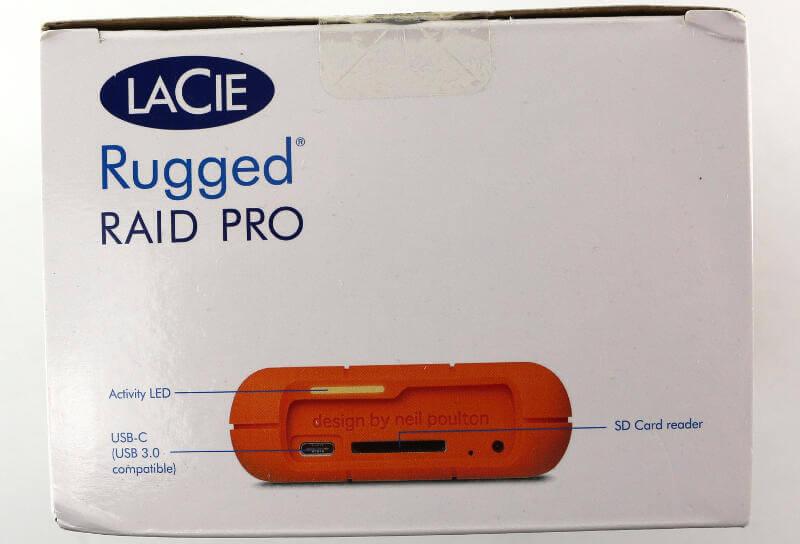 LaCie Rugged RAID Pro 4TB Photo box top