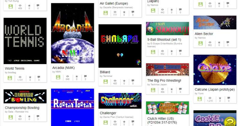 Internet Archive Adds 1,100 Arcade Games to Online Museum