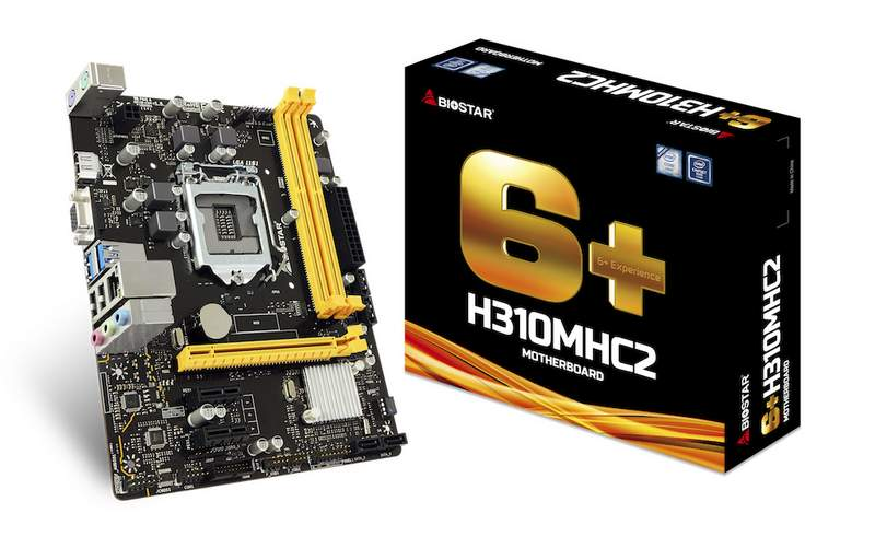 Biostar Announces Two New H310 Chipset Motherboards