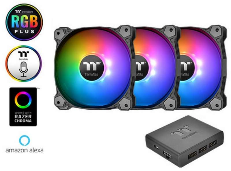 Thermaltake Releases Larger 140mm Pure Plus RGB Fans