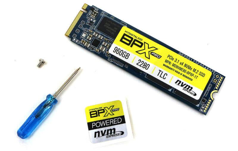 MyDigitalSSD BPX Pro 1TB Photo box content