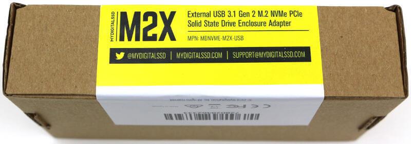 MyDigitalSSD M2X Enclosure Photo box side