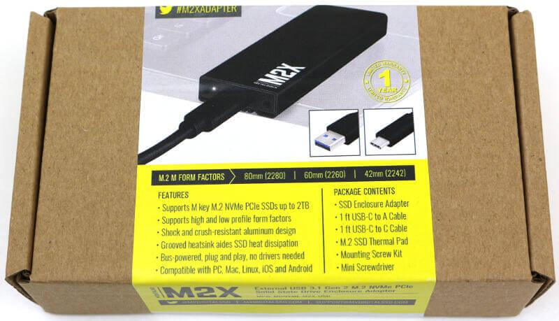 MyDigitalSSD M2X Enclosure Photo box top